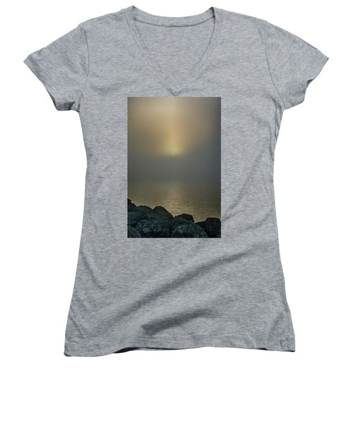 Misty Sunrise Morning Women's V-Neck (Athletic Fit)