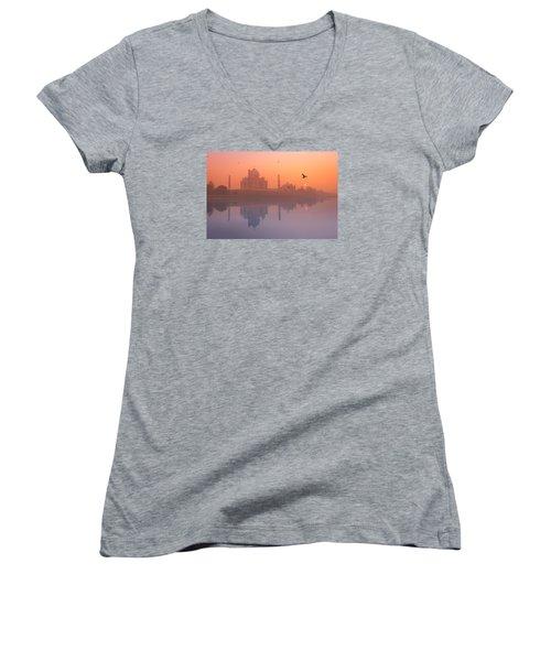 Misty Sunset Women's V-Neck