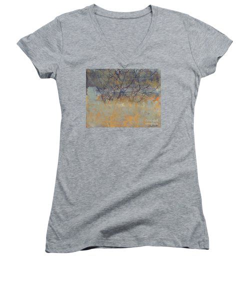Misty Trees Women's V-Neck (Athletic Fit)