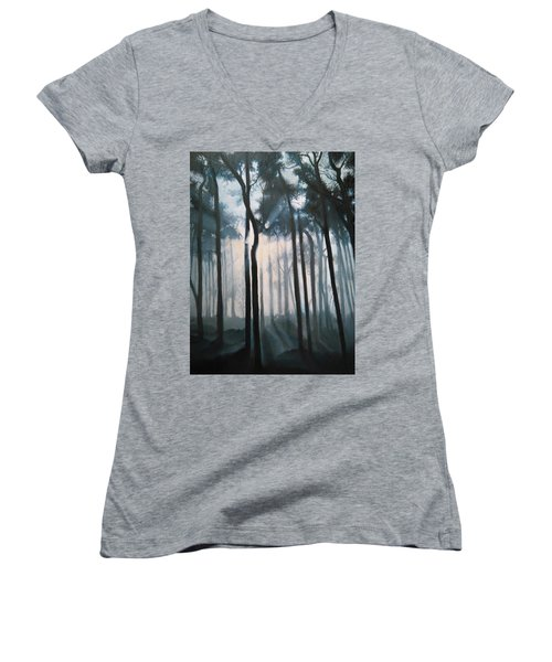 Misty Woods Women's V-Neck