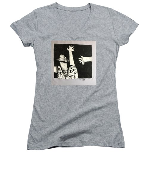 Mmcvii Paranoia No 2  Women's V-Neck T-Shirt