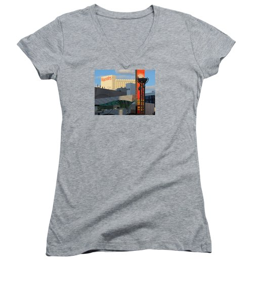 Modern Architecture Women's V-Neck (Athletic Fit)