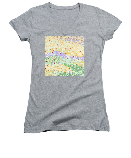 Modern Landscape Painting 3 Women's V-Neck T-Shirt