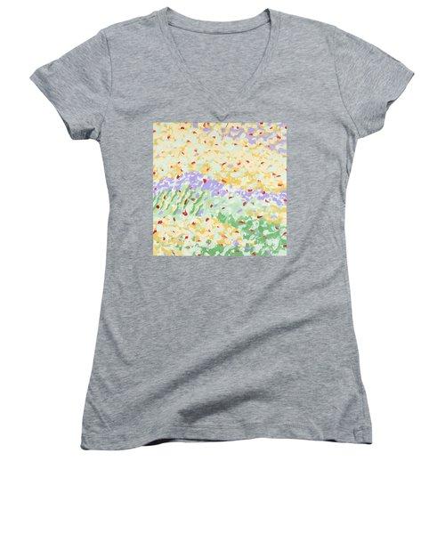 Modern Landscape Painting 3 Women's V-Neck T-Shirt