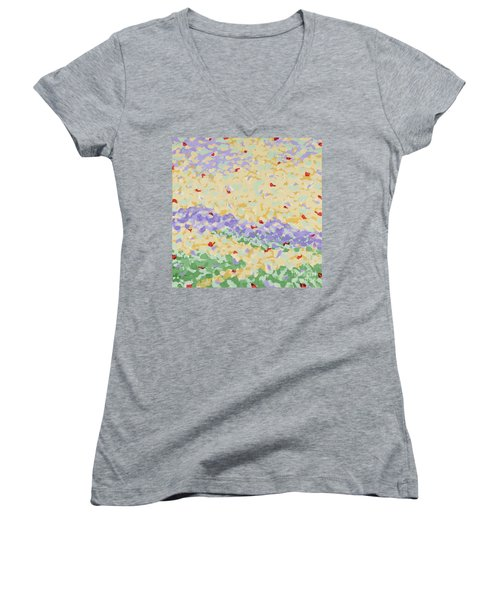Modern Landscape Painting 4 Women's V-Neck T-Shirt