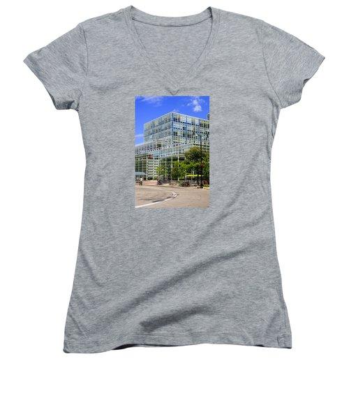 Modern Madison Women's V-Neck T-Shirt (Junior Cut) by Chris Smith