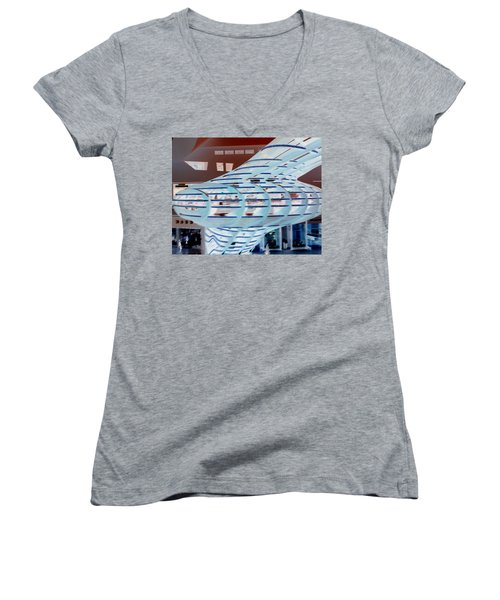 Modern Mall Women's V-Neck T-Shirt (Junior Cut) by Karen J Shine