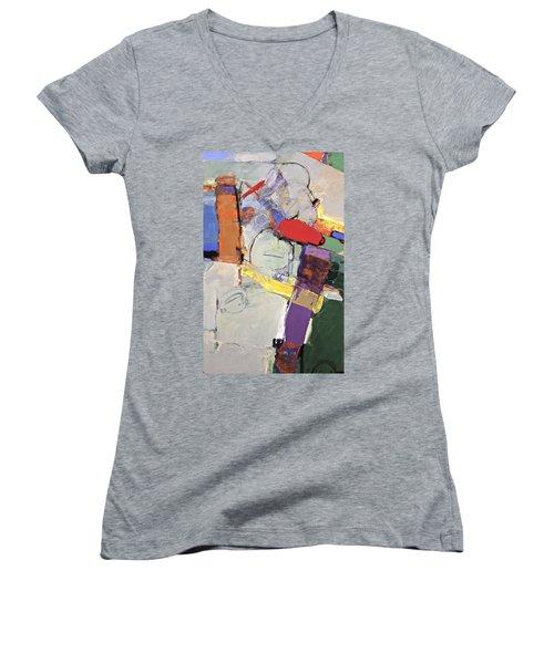 Mojo Rizen Via La Woman Women's V-Neck T-Shirt (Junior Cut) by Cliff Spohn