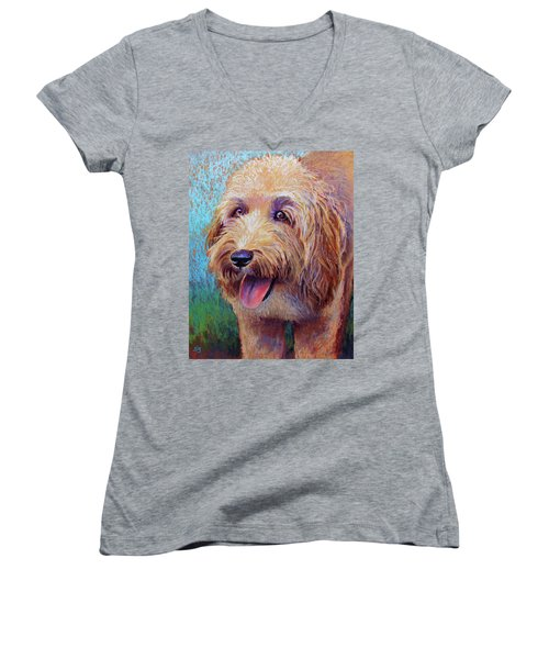 Mojo The Shaggy Dog Women's V-Neck