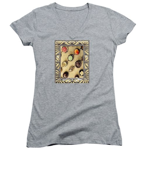 Moments In Time Bracelet Art Women's V-Neck T-Shirt