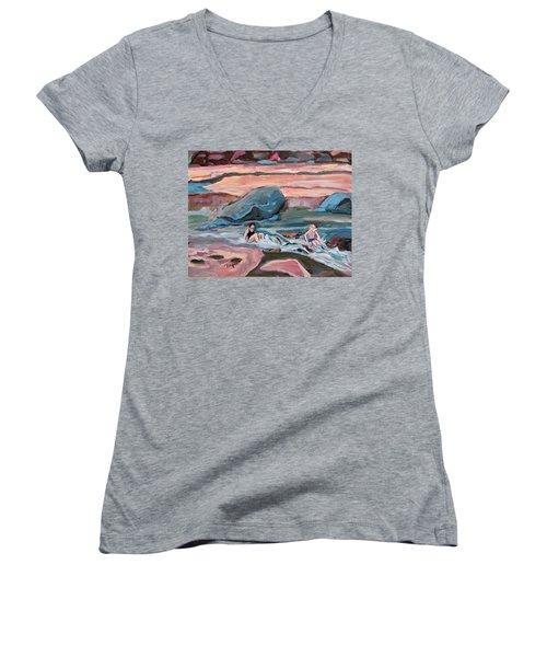 Momma At Slide Rock Park Arizona Women's V-Neck T-Shirt
