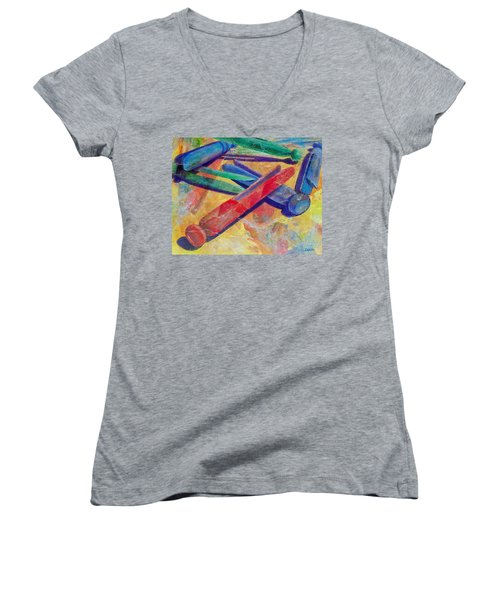 Mom's Wash Day Women's V-Neck T-Shirt (Junior Cut)
