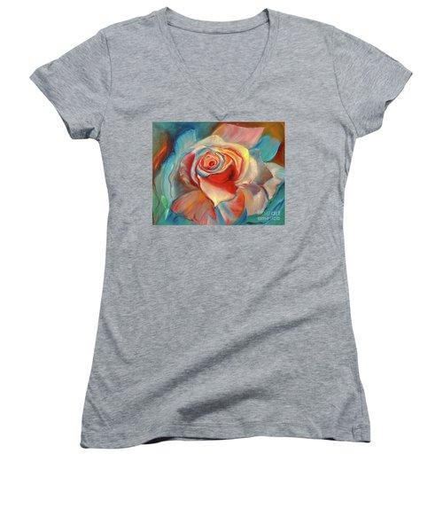 Mon Ami Women's V-Neck T-Shirt (Junior Cut) by Jenny Lee