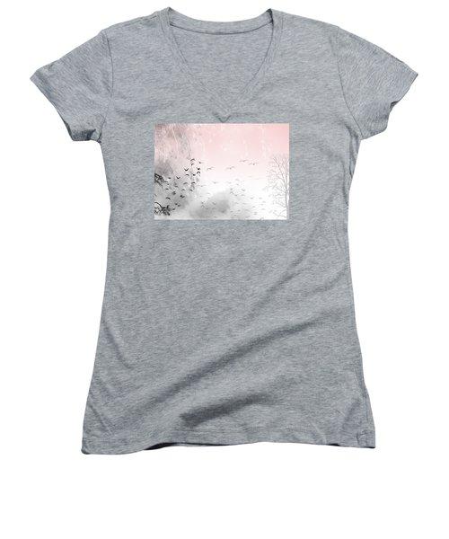 Mondays Women's V-Neck T-Shirt (Junior Cut) by Trilby Cole
