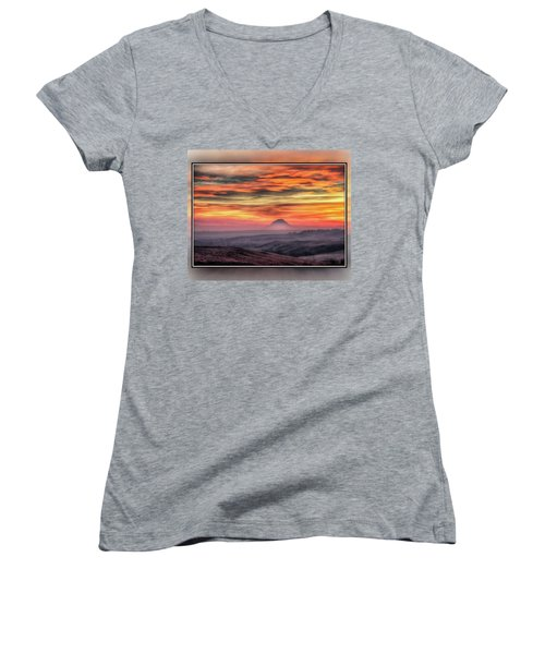 Women's V-Neck featuring the photograph Monet Morning by Fiskr Larsen