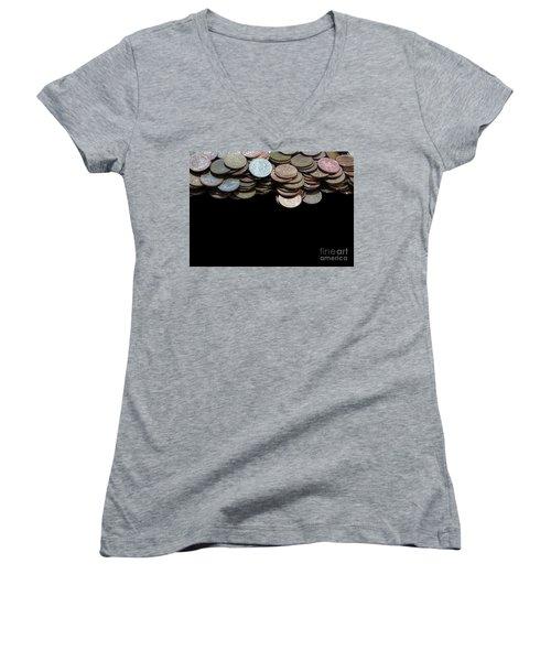 Money Games Women's V-Neck T-Shirt