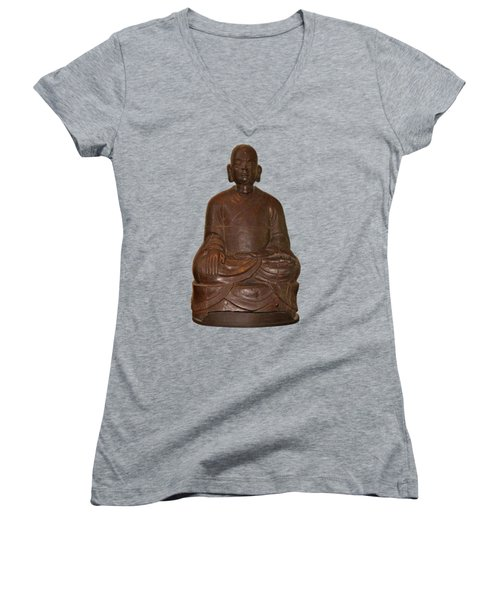 Monk Seated Women's V-Neck (Athletic Fit)