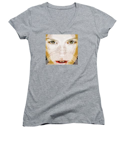 Monkey Glows Women's V-Neck T-Shirt
