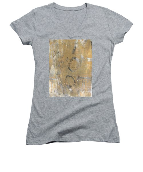 Mono Print 003 - I Am Not Art Women's V-Neck (Athletic Fit)