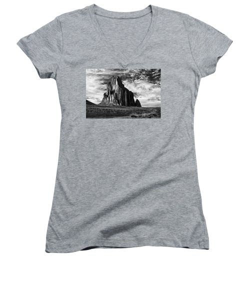 Monolith On The Plateau Women's V-Neck T-Shirt