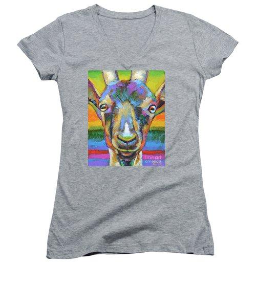 Monsieur Goat Women's V-Neck T-Shirt