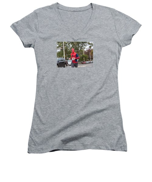 Monster Dash 43 Women's V-Neck T-Shirt (Junior Cut) by Brian MacLean