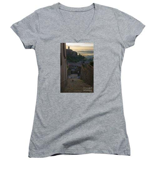 Montalcino City Women's V-Neck T-Shirt