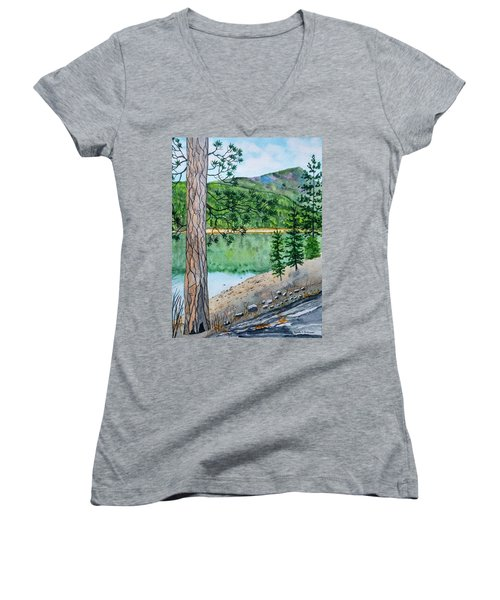 Montana - Lake Como Women's V-Neck (Athletic Fit)