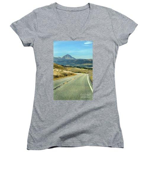 Montana Road Women's V-Neck T-Shirt (Junior Cut) by Jill Battaglia