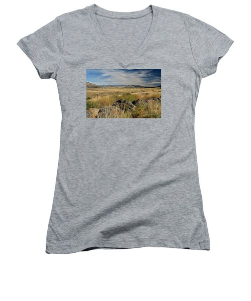 Montana Route 200 Women's V-Neck T-Shirt