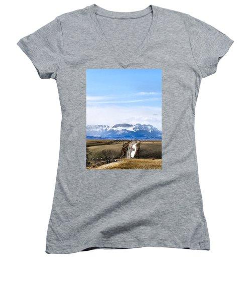 Montana Scenery One Women's V-Neck