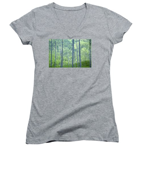 Montana Trees Women's V-Neck