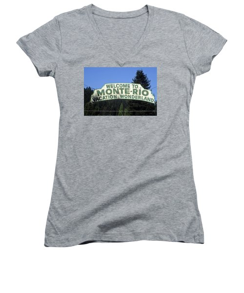 Monte Rio Sign Women's V-Neck