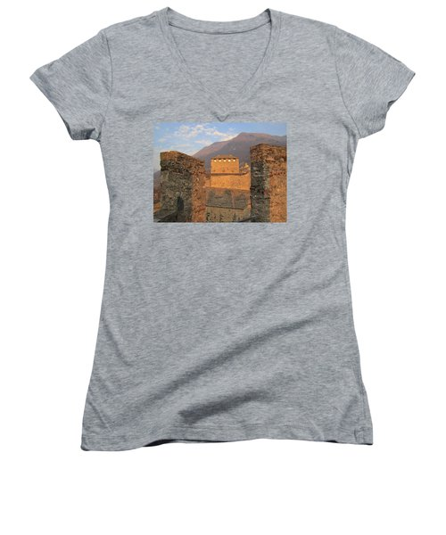 Montebello - Bellinzona, Switzerland Women's V-Neck T-Shirt