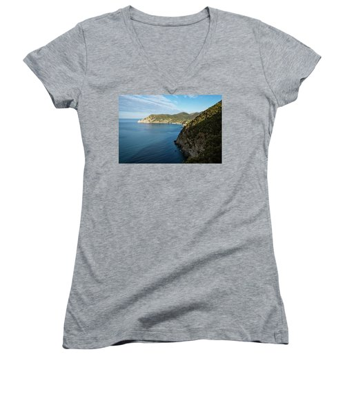 Monterosso And The Cinque Terre Coast Women's V-Neck T-Shirt