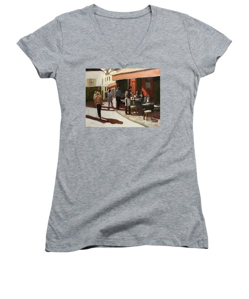 Montmarte Cafe Women's V-Neck (Athletic Fit)