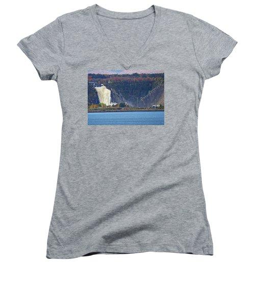Montmorency Falls Women's V-Neck T-Shirt