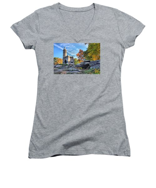 Monument To The 44th Women's V-Neck