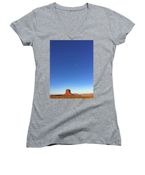 Monument Valley Morning View Women's V-Neck (Athletic Fit)