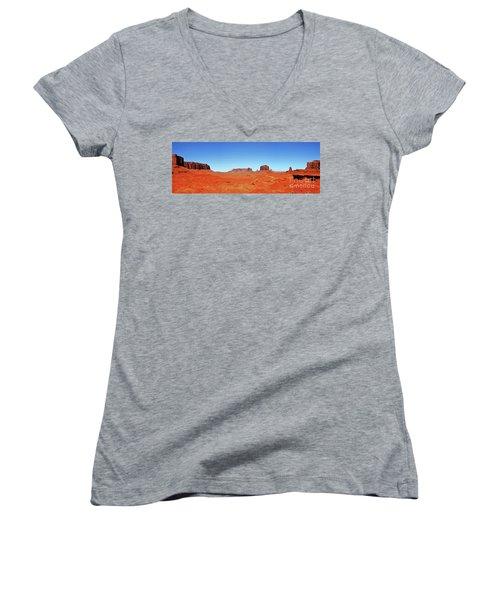 Monument Valley Two Women's V-Neck T-Shirt (Junior Cut) by Paul Mashburn