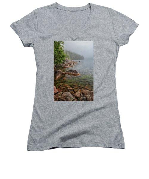 Moody And Magical Jordan Pond Women's V-Neck (Athletic Fit)