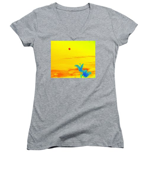 Moon And Two Palms Women's V-Neck