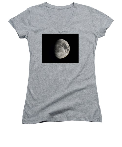 Moon, Aug 13th 2016 Women's V-Neck (Athletic Fit)