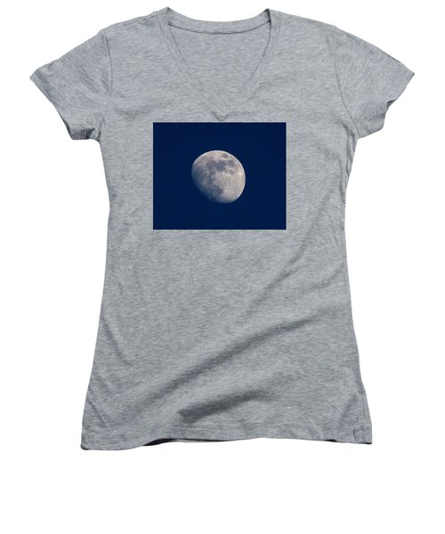 Moon From Bow, Wa Women's V-Neck (Athletic Fit)
