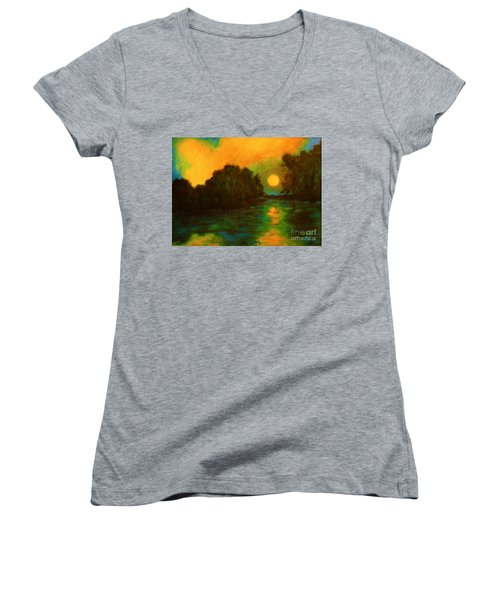 Moon Glow Women's V-Neck T-Shirt