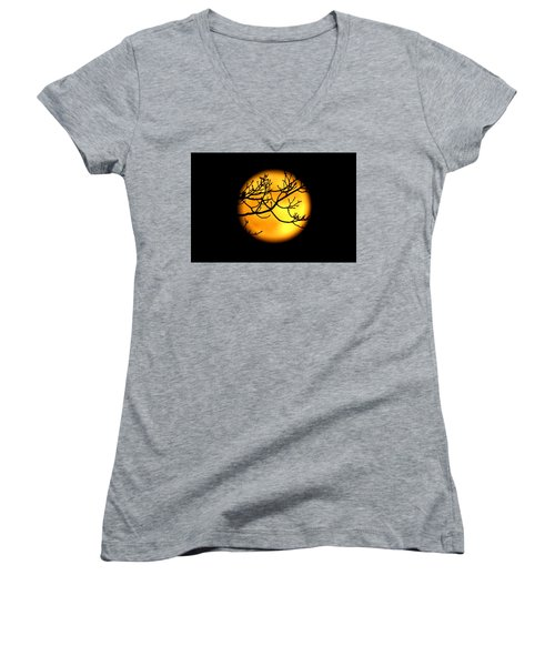 Moon In The Trees Women's V-Neck T-Shirt