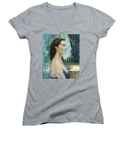 Moon Women's V-Neck T-Shirt