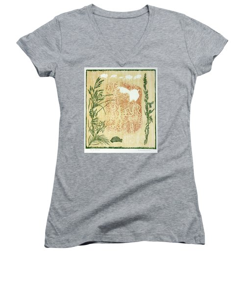 Moon Of Fatness Women's V-Neck (Athletic Fit)