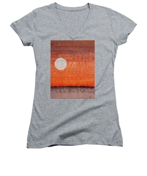 Moon Over Mojave Women's V-Neck T-Shirt