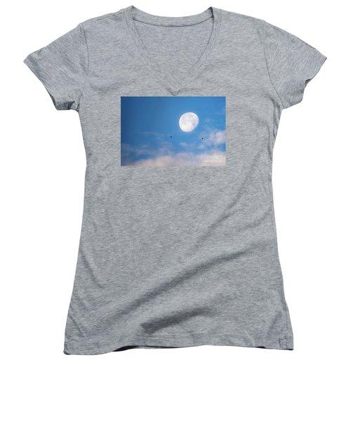 Moon Set Women's V-Neck
